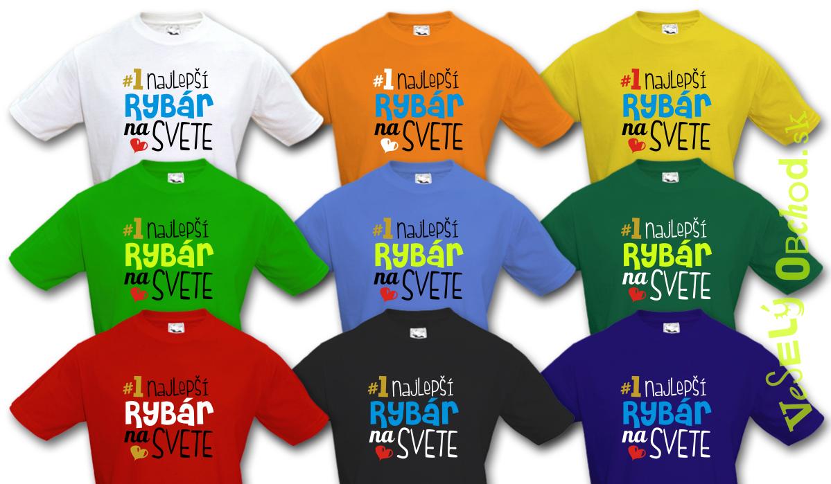bf75990e73fb Vtipné tričko Najlepší rybár na svete